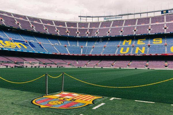 Pelouse du stade du Camp Nou de Barcelone