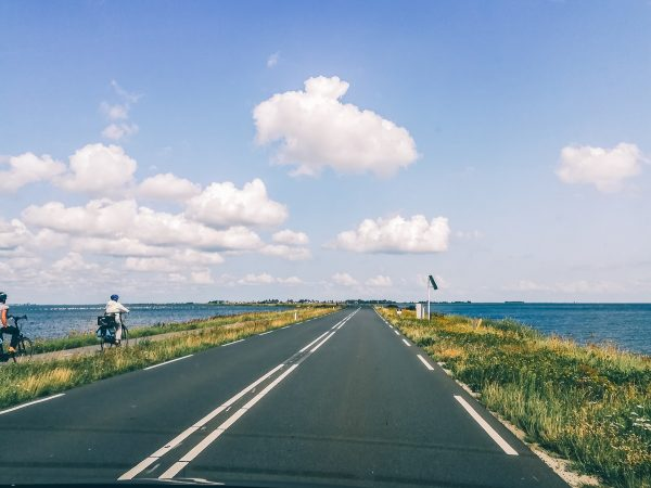 Route d'accès à la péninsule de Marken