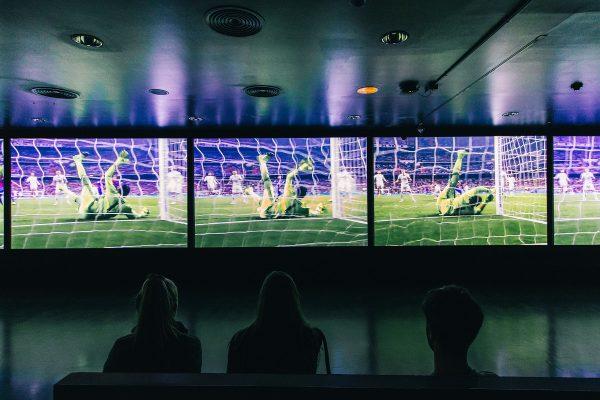 La salle multimédia de la visite du musée du Camp Nou
