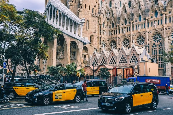 Taxis dans Barcelone