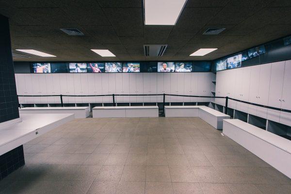 La visite des vestiaires du stade du Camp Nou
