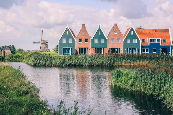 Moulin de Volendam aux Pays-Bas