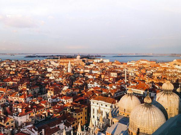 Vue depuis le sommet du campanile de Venise