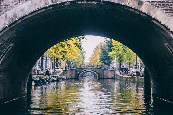 Alignement des 7 ponts sur les canaux d'Amsterdam