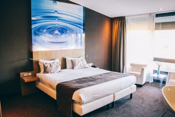 Dans une chambre de l'hôtel Van der Valk à Breukelen