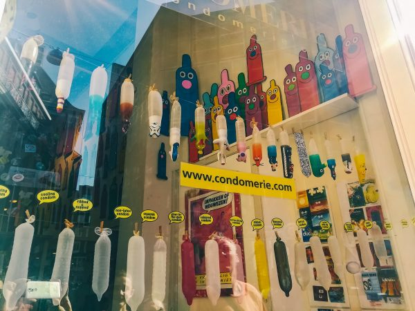 Sexshop dans le quartier rouge d'Amsterdam