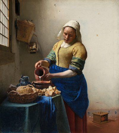 Tableau La Laitière de Vermeer exposé au Rijksmuseum d'Amsterdam