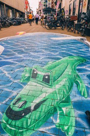 Street-art dans Groningen aux Pays-Bas