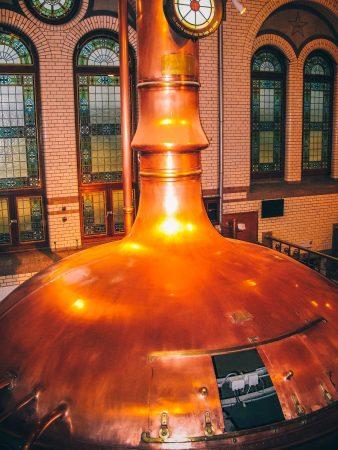 Visite de l'Heineken Experience à Amsterdam