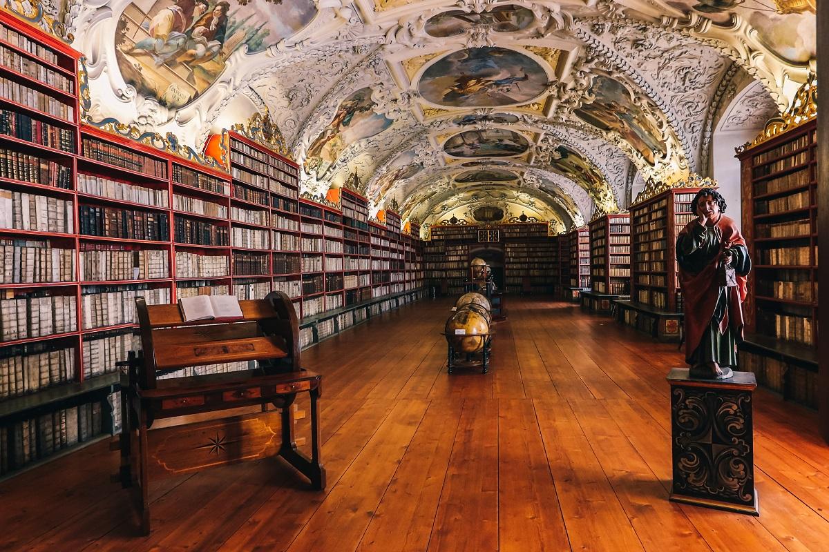 Une bibliothèque du Monastère de Strahov de Prague