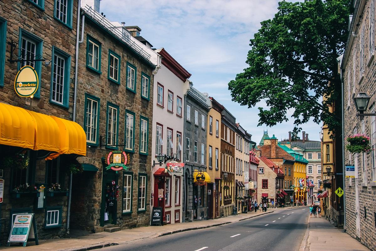 Dans le centre-ville de Québec