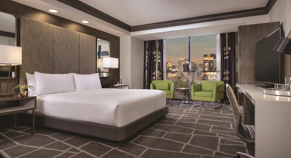 Dans une chambre d'hôtel du Luxor à Las Vegas