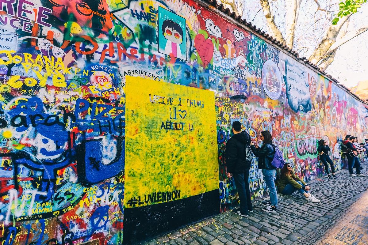 Mur de John Lennon à Prague
