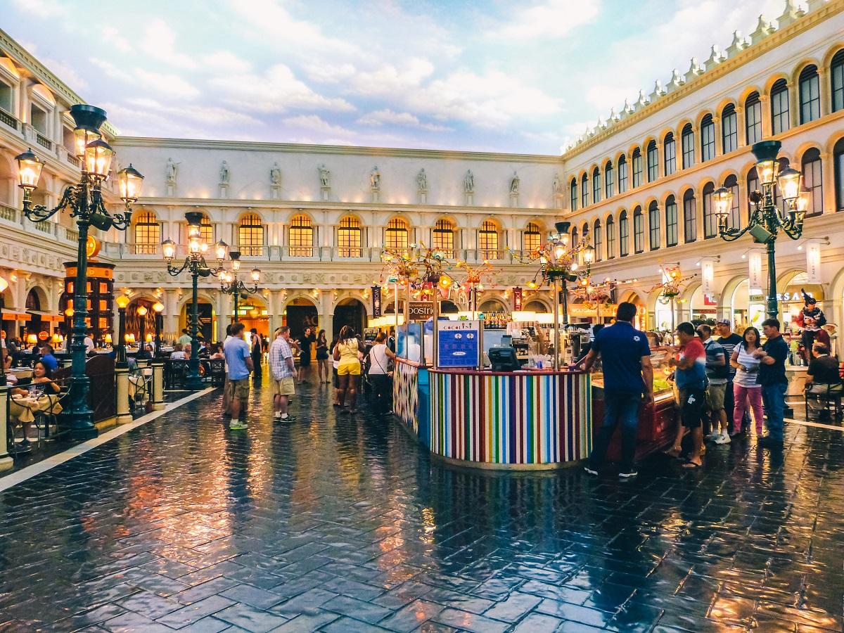 La Place Saint-Marc dans l'hôtel Venetian de Las Vegas