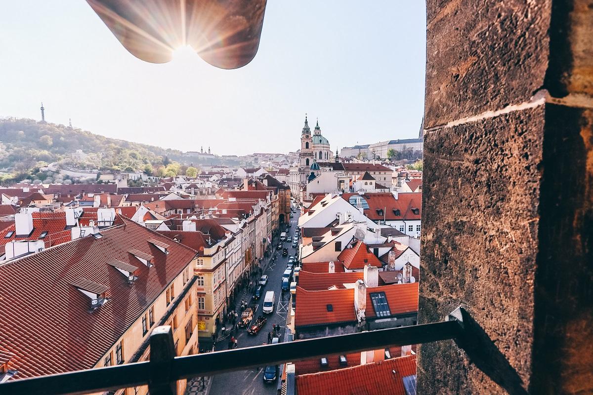 Vue depuis une tour du Pont Charles de Prague
