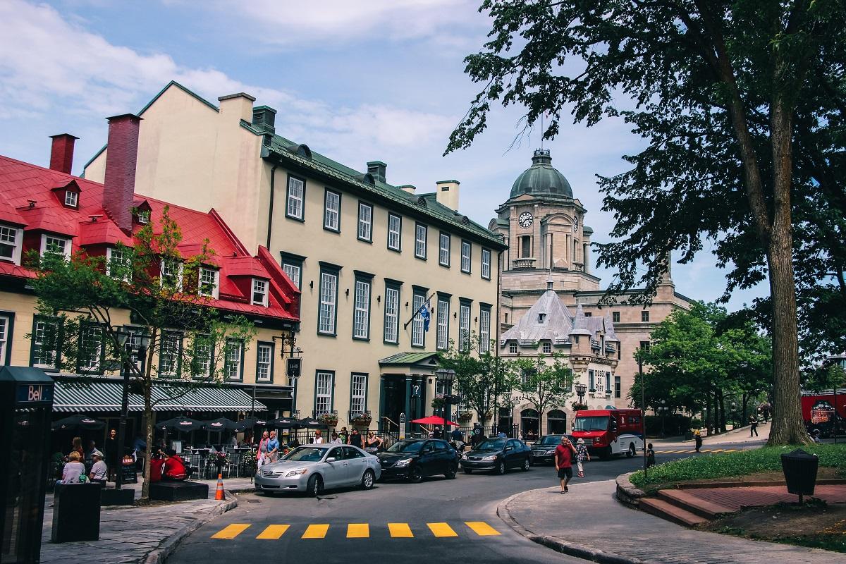 La place d'armes à Québec