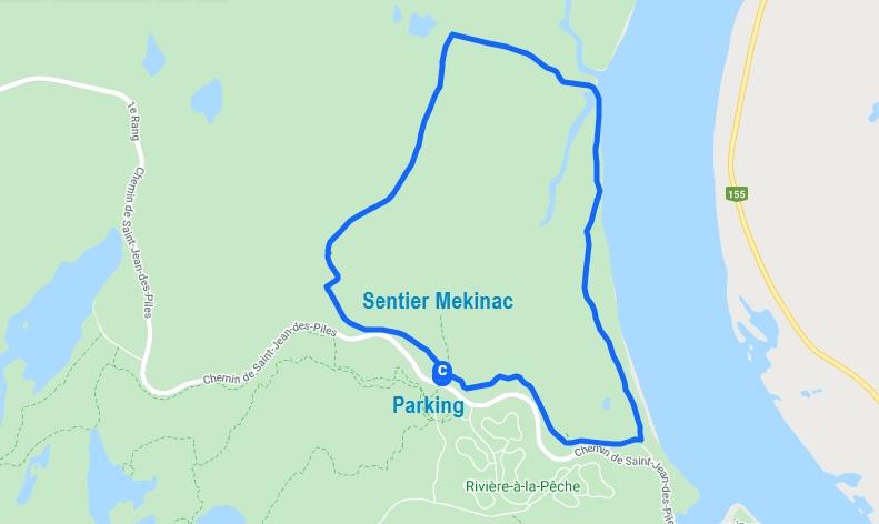 Sentier Mekinac dans le parc national de la Mauricie
