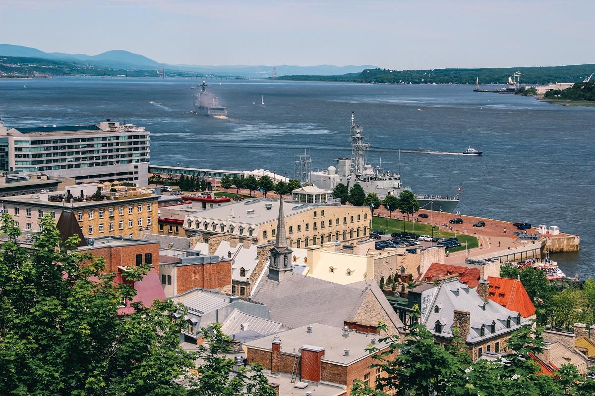 Vue sur le fleuve Saint-Laurent depuis Québec
