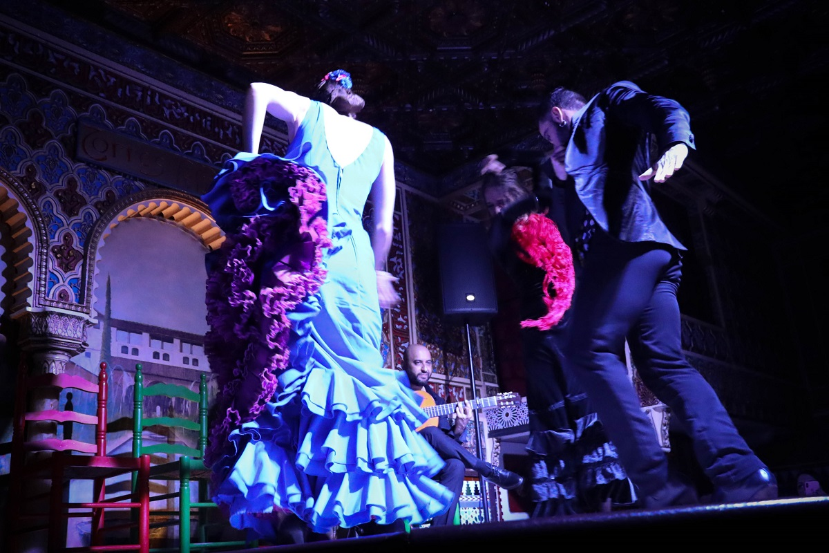 Danseurs d'un spectacle de flamenco à Madrid