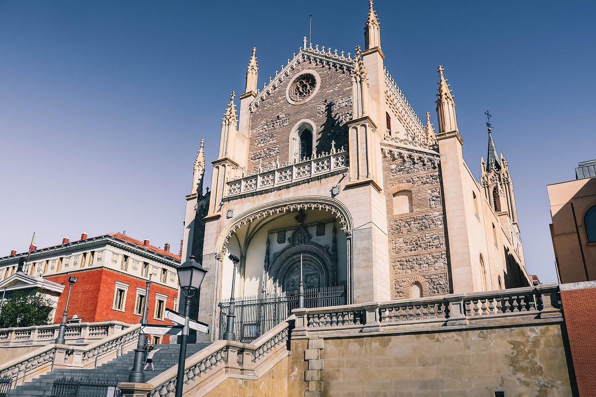 Eglise Saint Jérôme le Royal de Madrid, juste derrière le Musée du Prado