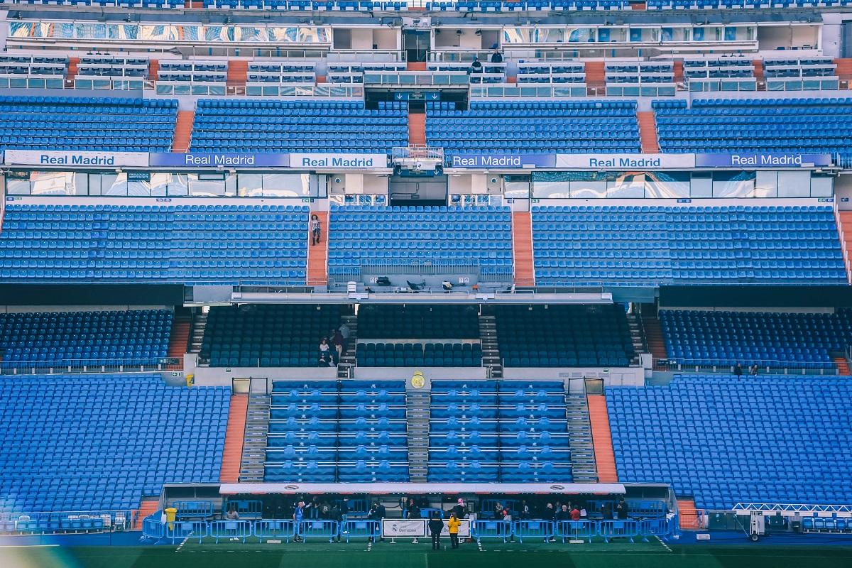 Gradins du stade Bernabeu de Madrid