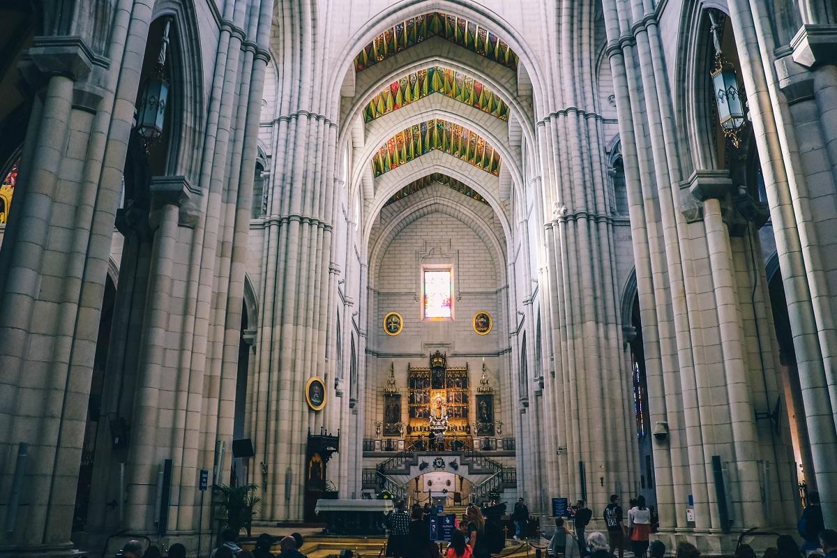 Intérieur de la cathédrale de Madrid