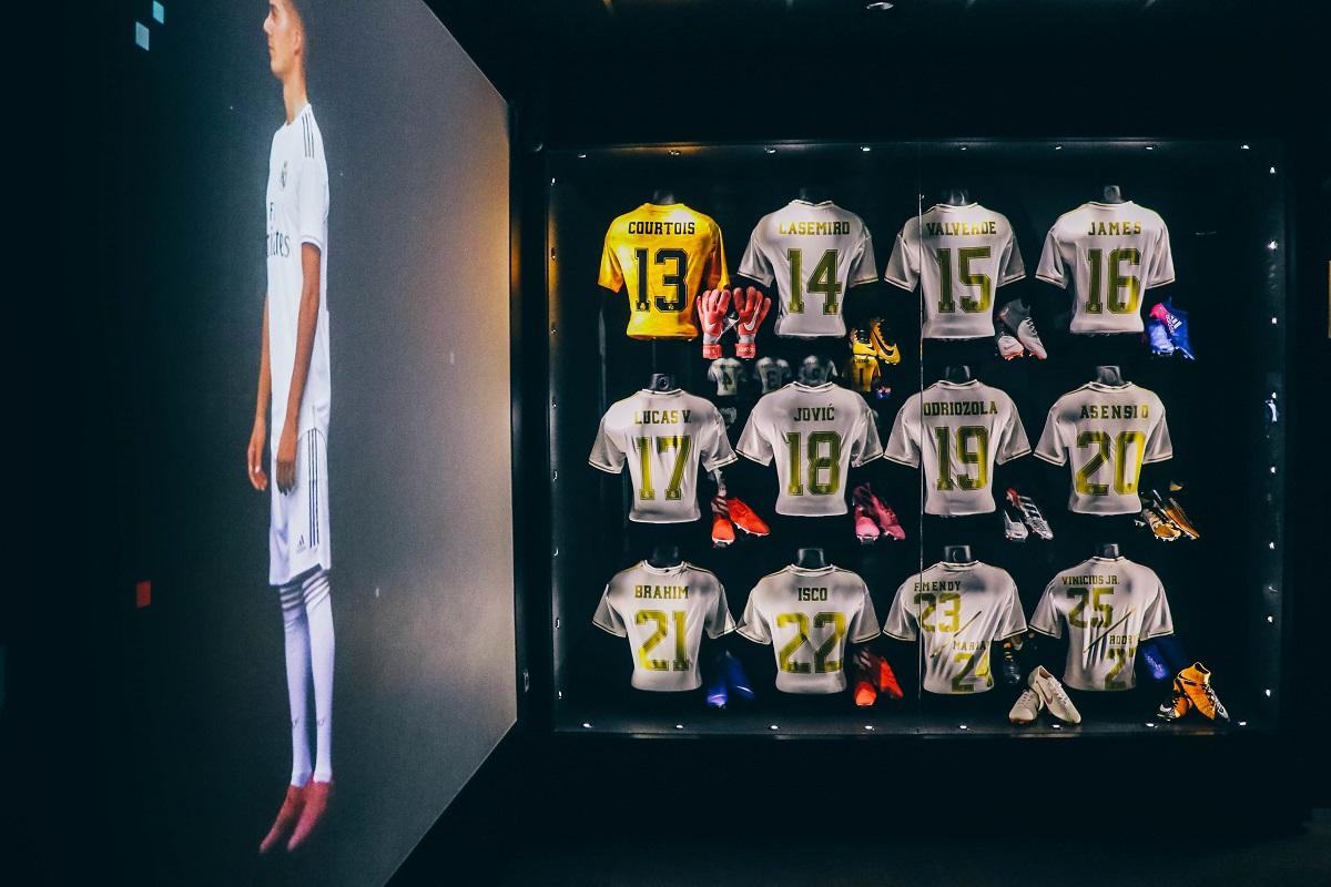 Maillots de joueurs du Real de Madrid