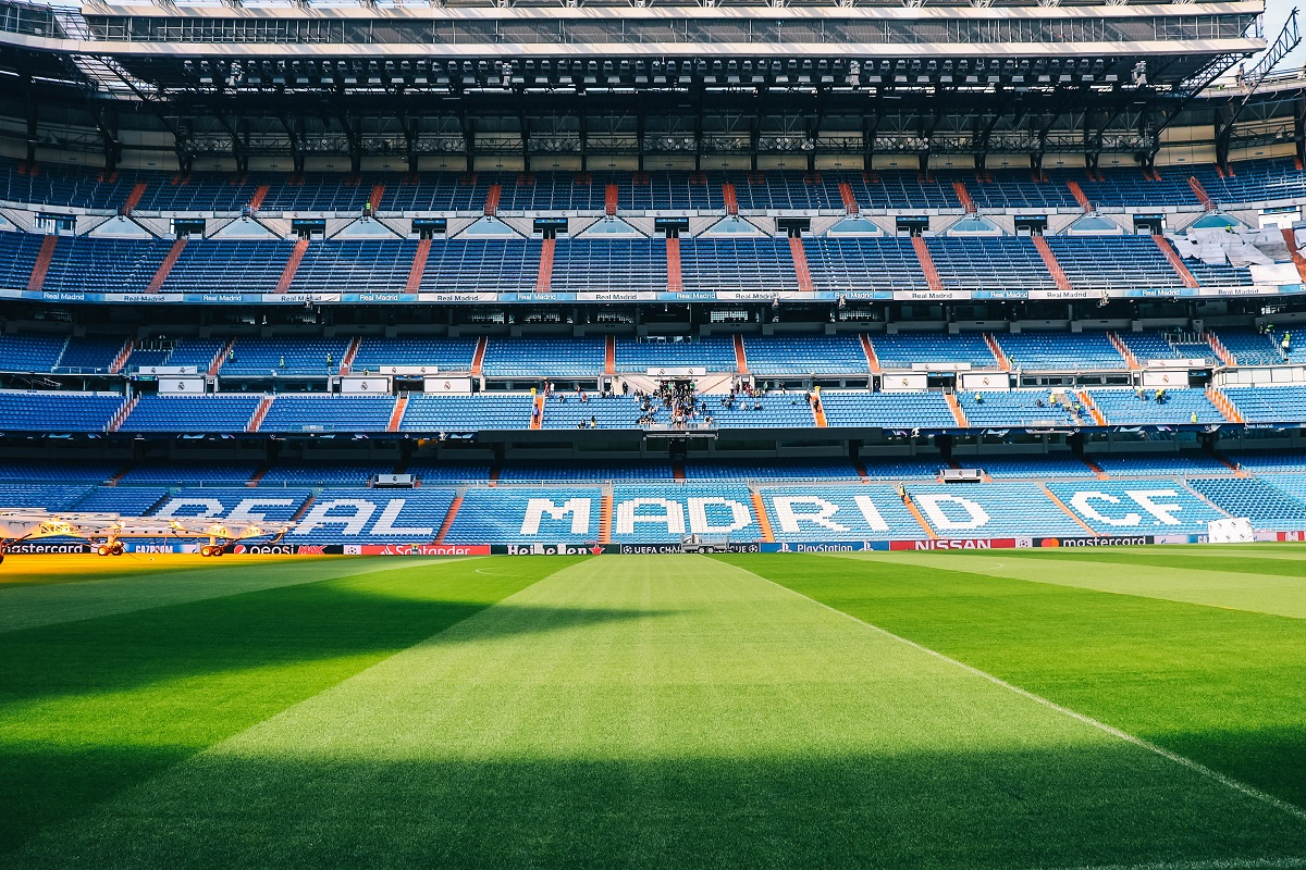 La pelouse du stade du Real de Madrid