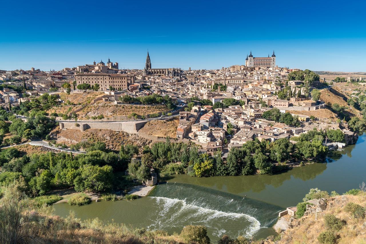 Point de vue sur la ville de Tolède, à visiter près de Madrid