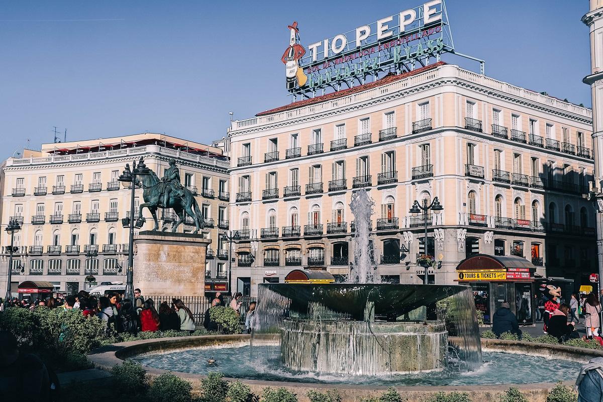 La place de la Puerta del Sol à Madrid