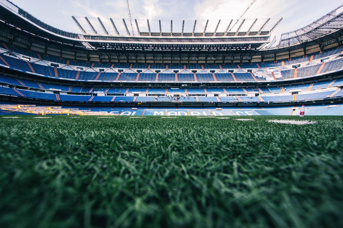 Pelouse du stade Bernabeu de Madrid