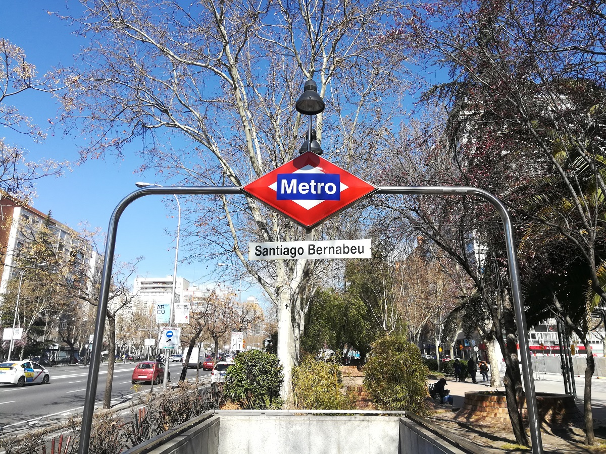 Station de métro du stade Bernabeu de Madrid