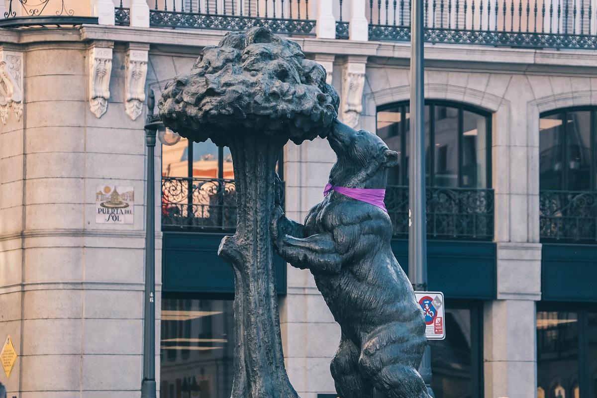 Statue de l'ours à Madrid