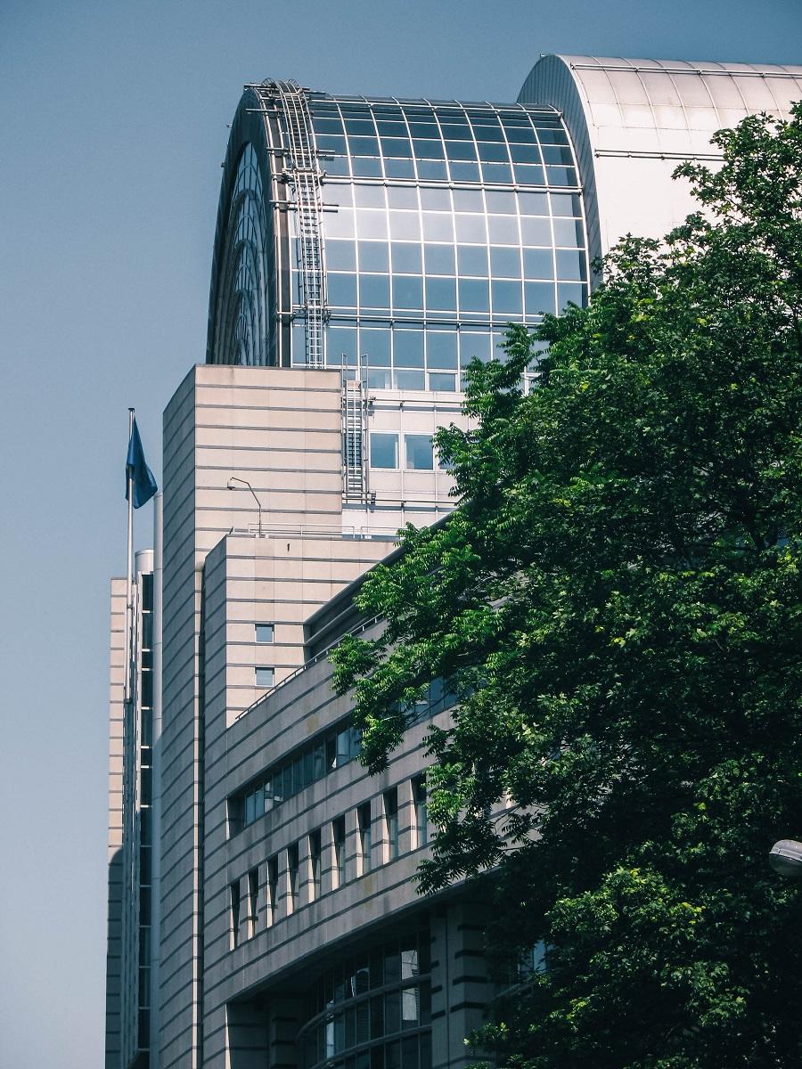 Un bâtiment moderne du quartier européen de Bruxelles