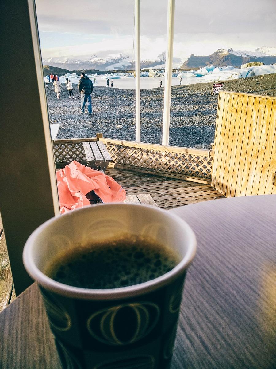 Café à Jokulsarlon