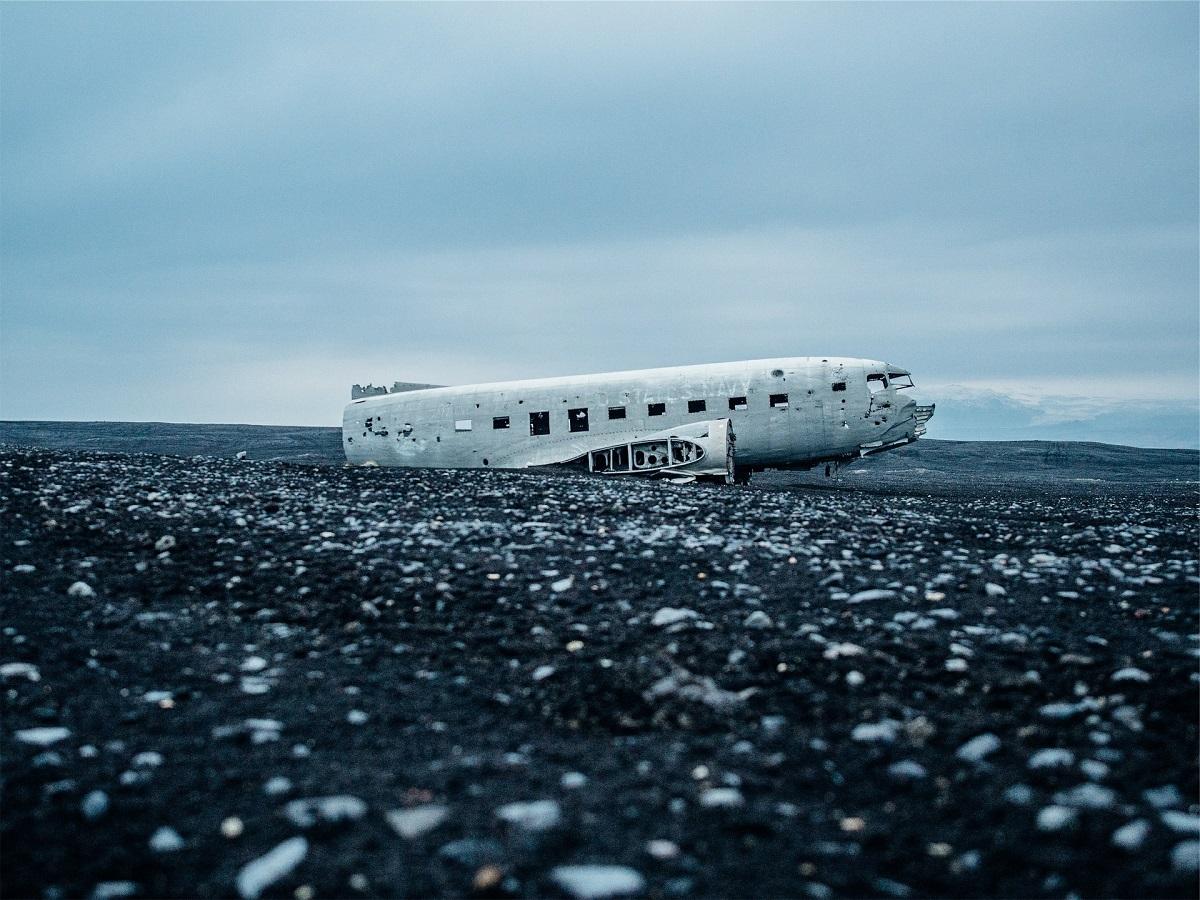 Avion abandonné DC3 en Islande près de Vik