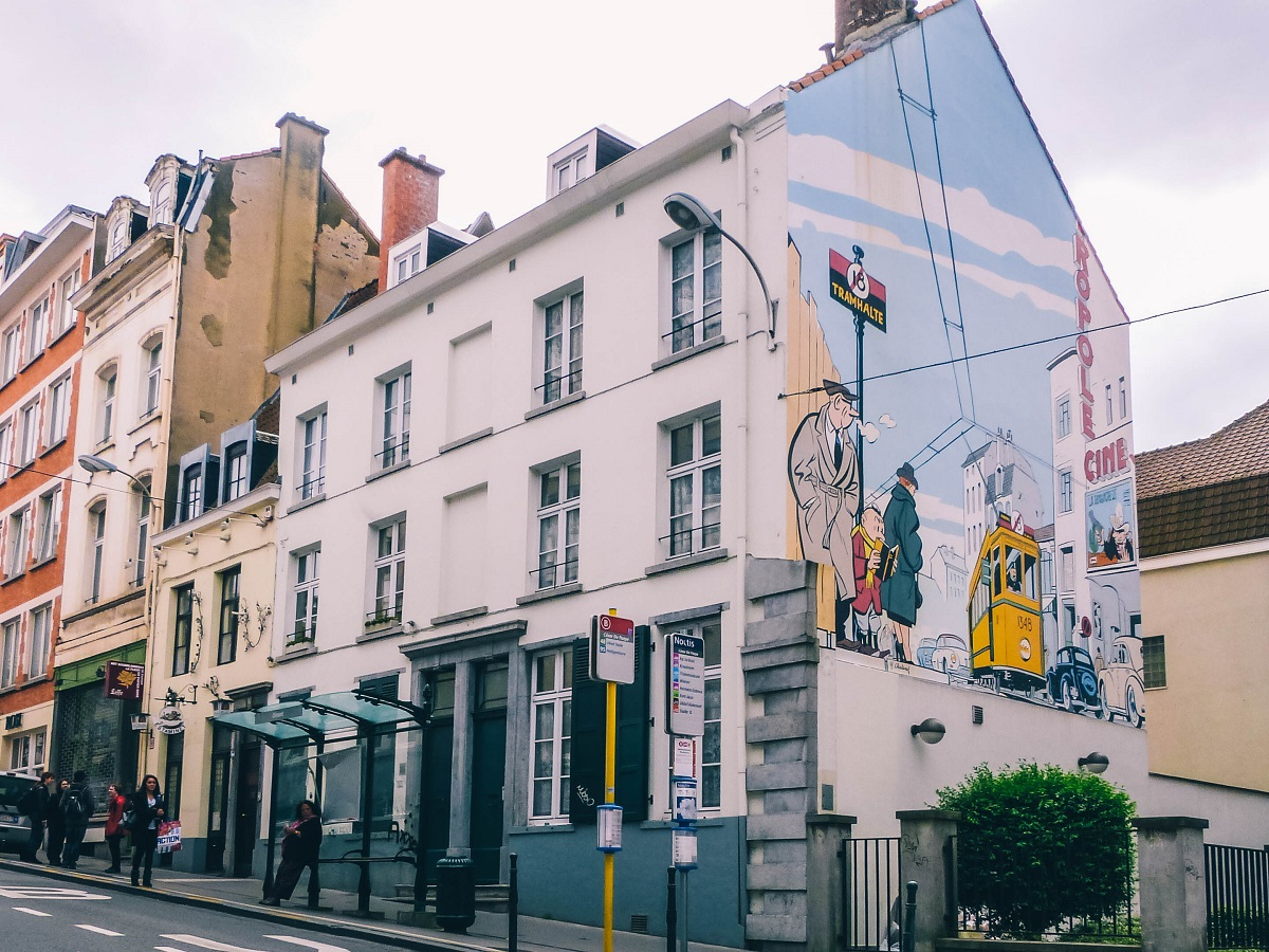 Une façade du parcours BD de Bruxelles