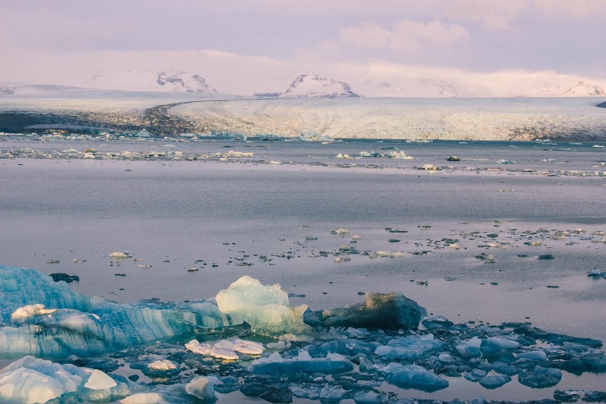 Glacier qui alimente le lagon de Jokulsarlon en Islande
