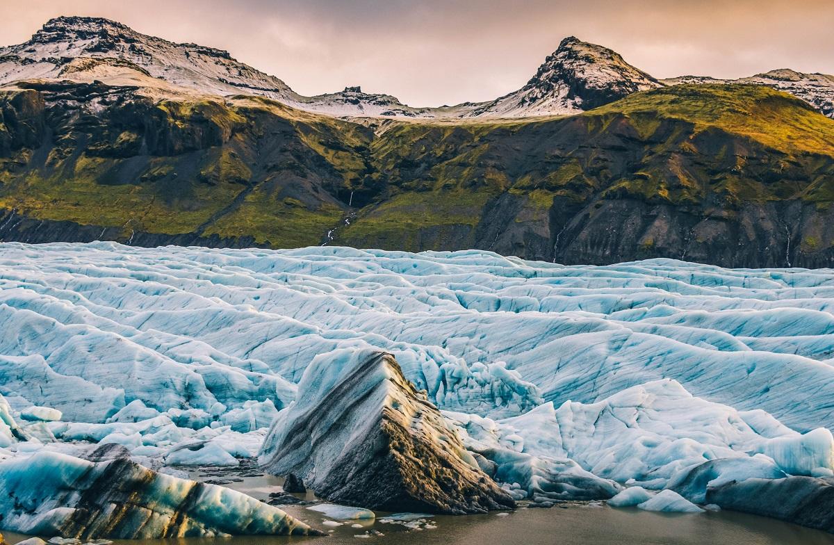 Glacier de Svinafell dans le sud de l'Islande