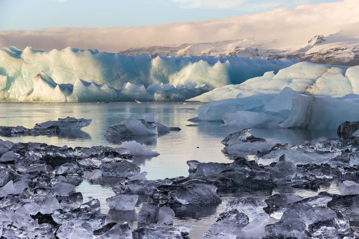 Icebergs à Jokulsaron en Islande