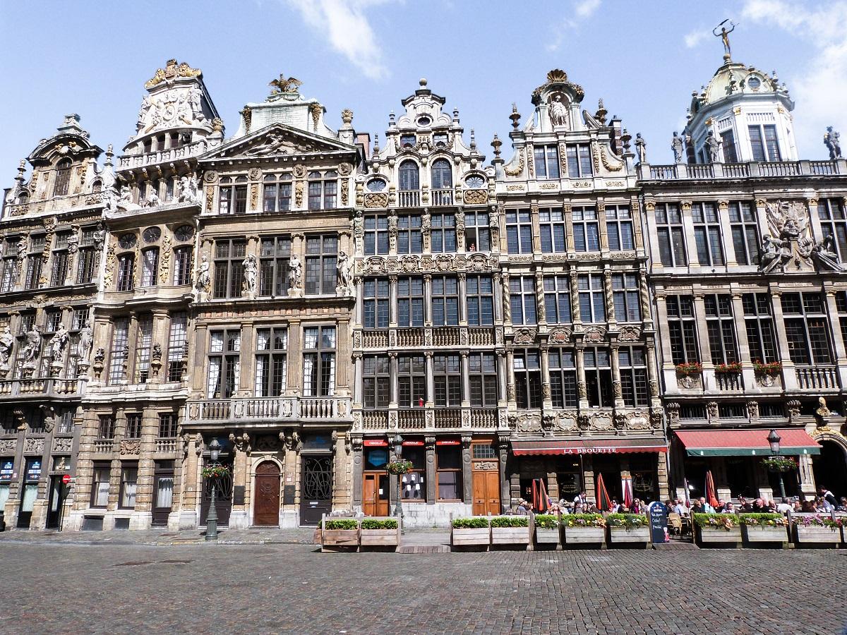 Maisons sur la Grand Place de Bruxelles