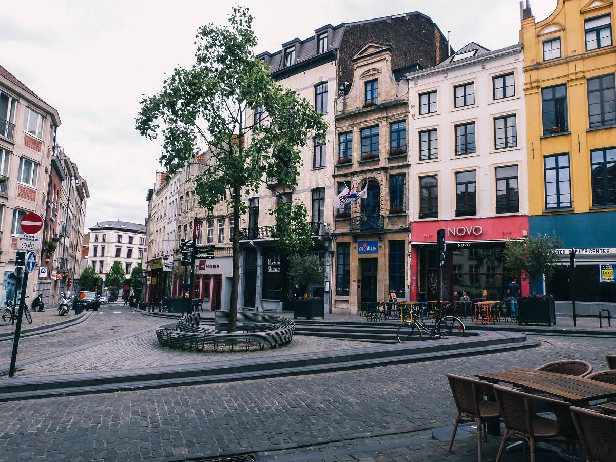Petite place dans Bruxelles