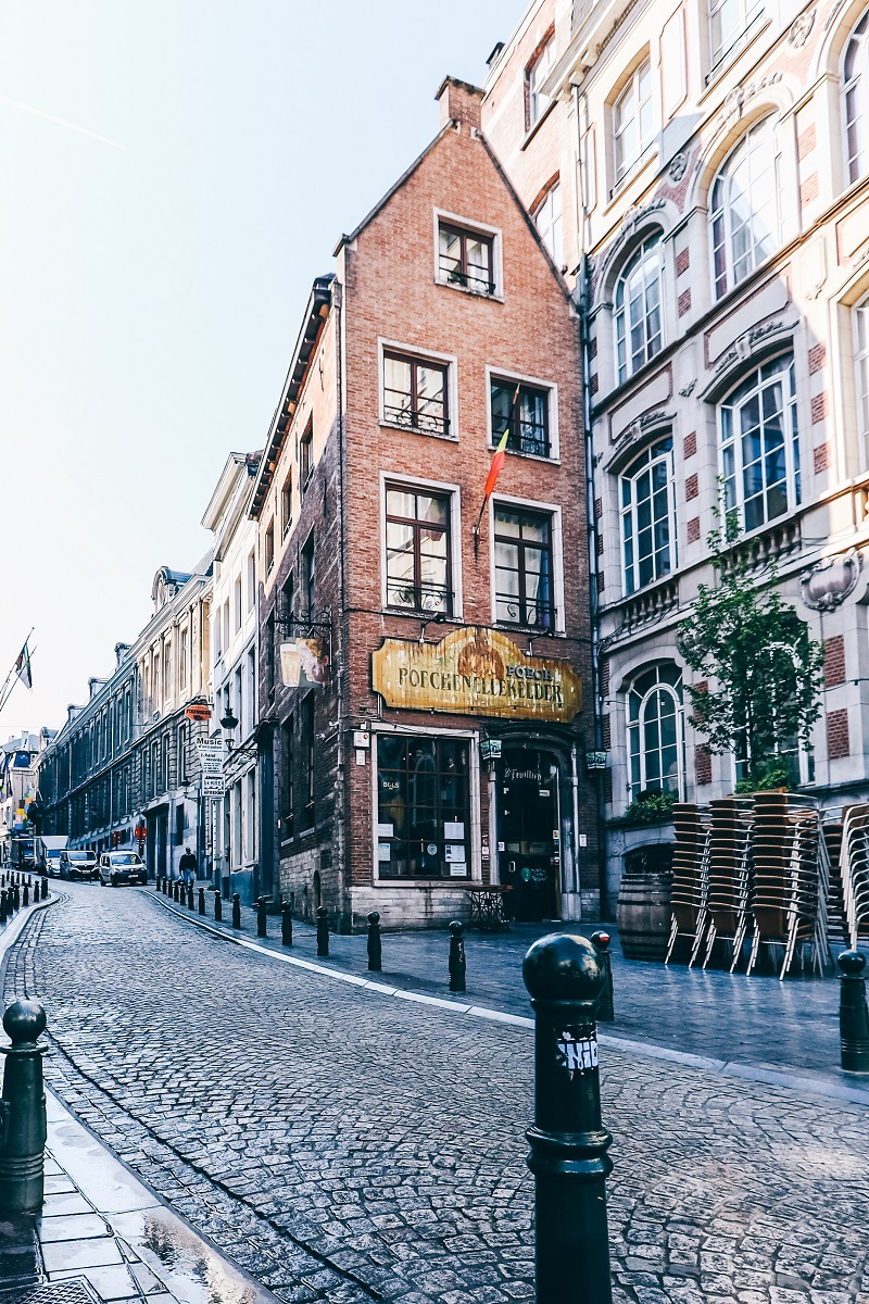 Rue dans le centre-ville de Bruxelles