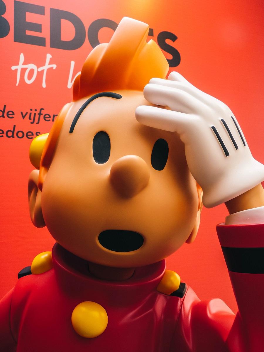 Spirou dans le musée de la BD de Bruxelles