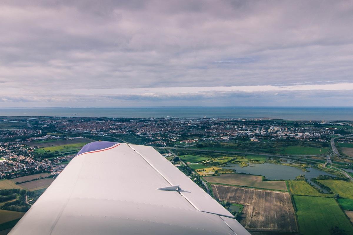 Baptême de l'air sur la Côte d'Opale : survol en avion