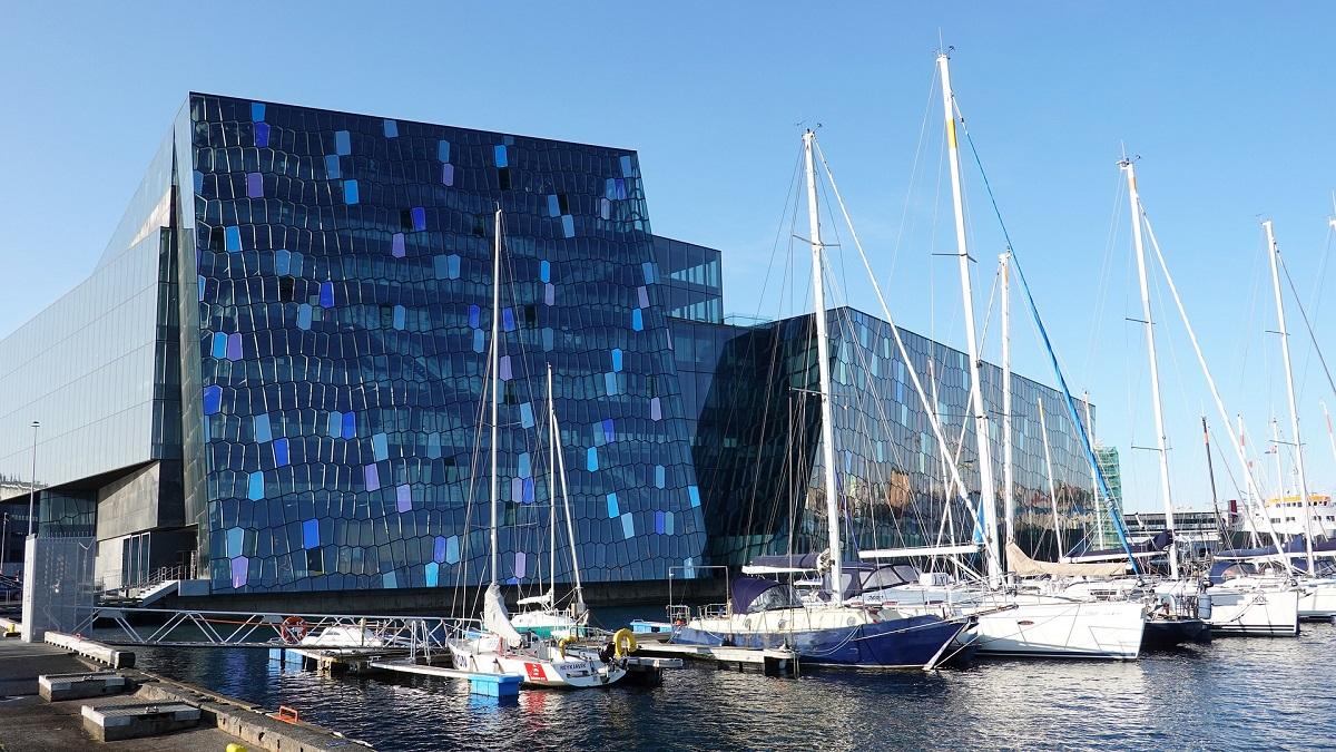 Le bâtiment du Harpa à Reykjavik