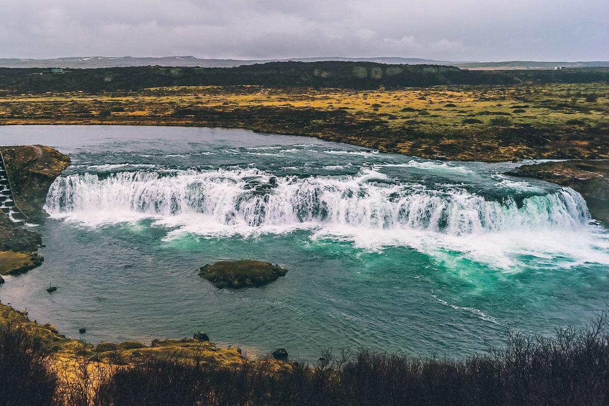 Cascade de Faxi en Islande