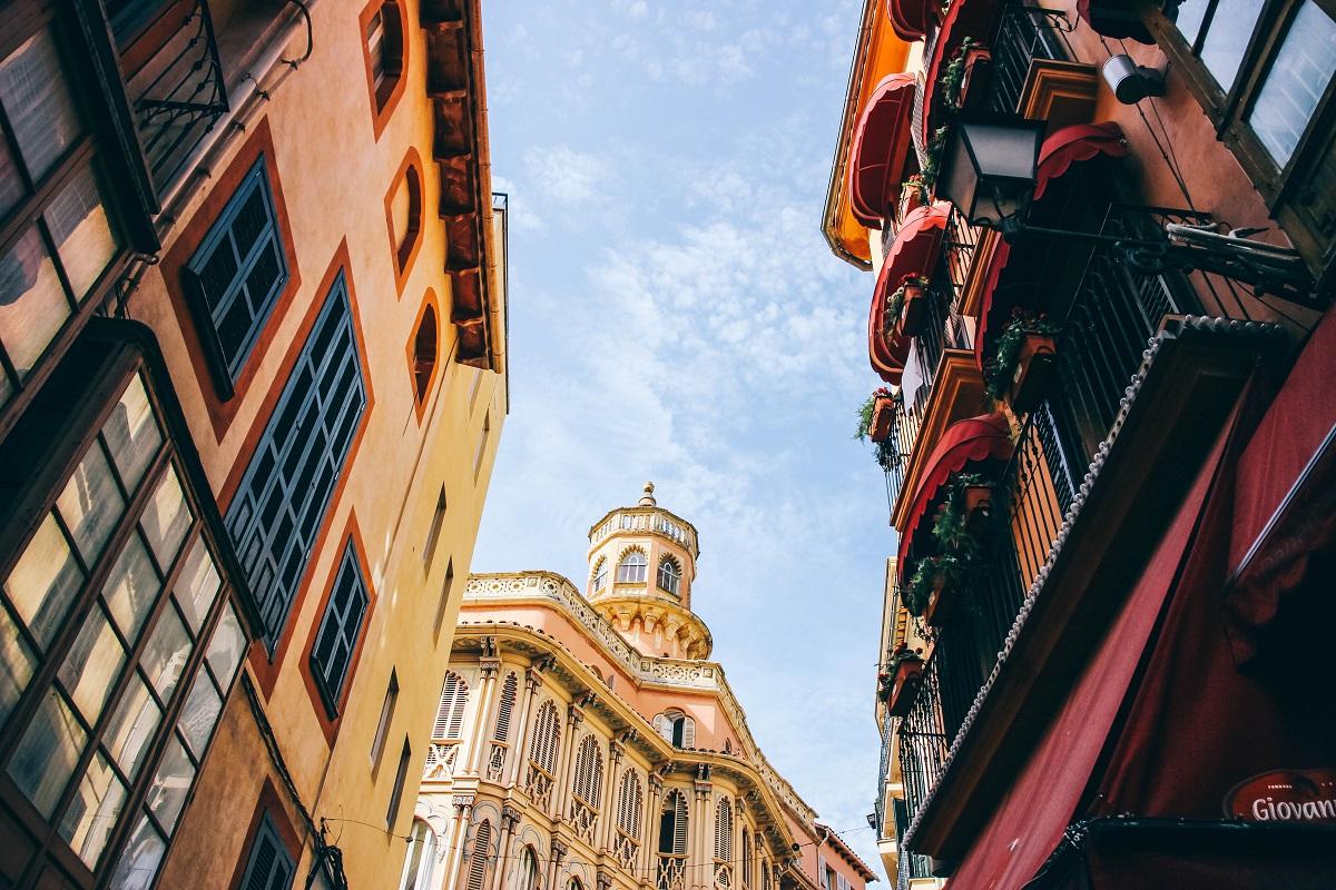 Façades dans les rues de Palma de Majorque