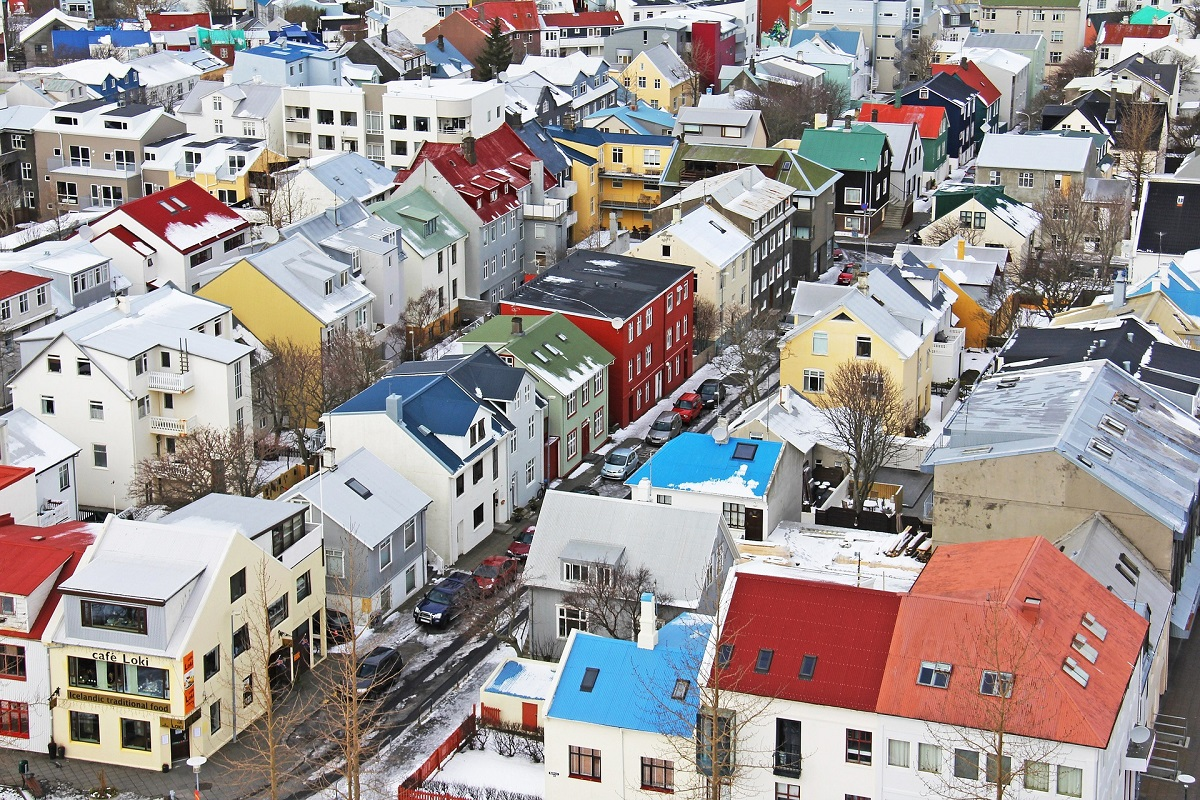 Vue sur Reykjavik depuis l'église