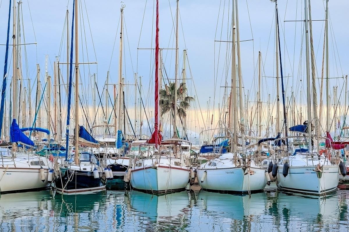 La marina dans la baie de Palma de Majorque